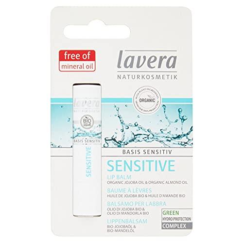 LAVERA Sensitive Baume à Lèvres contre les lèvres sèches Cosmétiques naturels Ingrédients végétaux bio 100% naturel