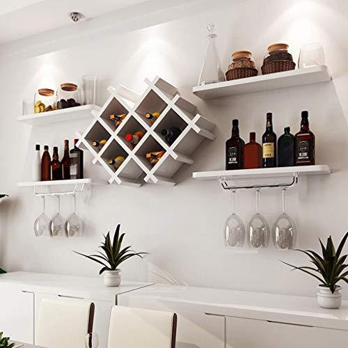 Cyt Einfache Moderne Wein Weinkühler hängen Weinregal Weinglas Rack umgedreht Wandregal kreative Wand hängen Weinregal (Farbe : Weiß, größe : XXL)