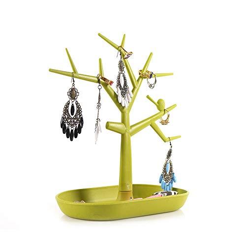 HXiaDyG Estante de Exhibición de la Joyería Joyería Torre Collar Pendientes Pulsera De Árbol Soporte De Exhibición Aspecto Elegante Y Diseño Conveniente Soportes de la Joyería