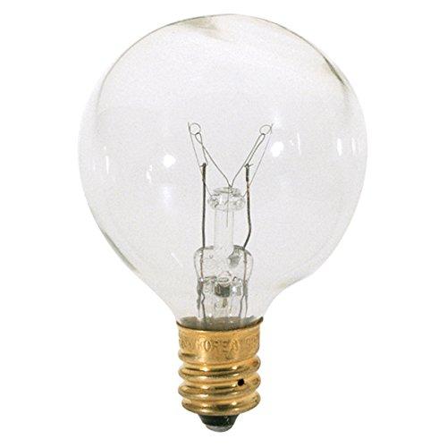 Satco s3846 25 Watt G12 1/2 Incandescent Clear 12 Bulbs