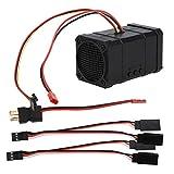 Bicaquu RC Car Sound Simulator, Engine Sound System, Plastic Professional Sound Effect Parts Durable Remote Control Car for RC Car Model