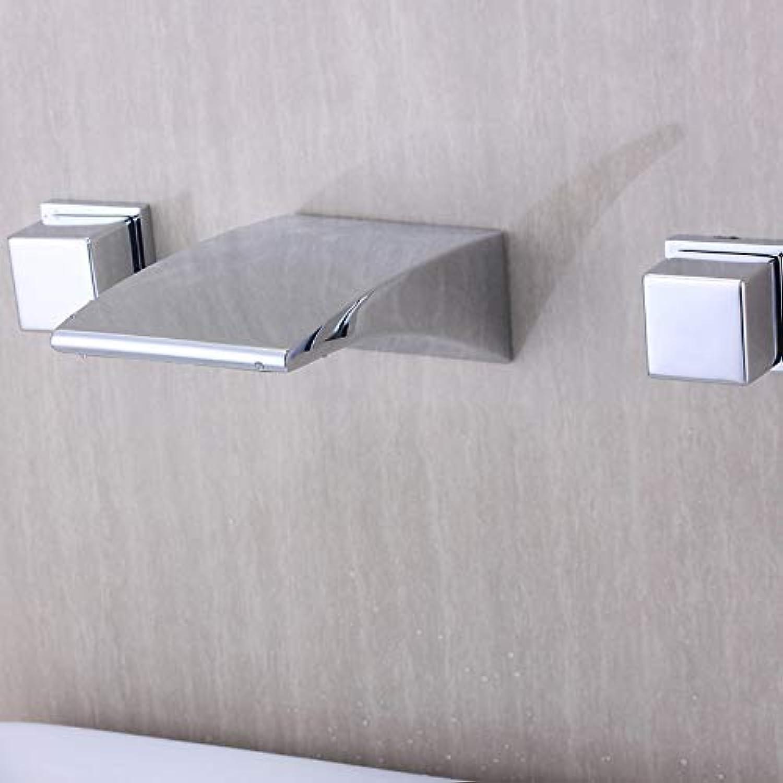 Willsego Wasserhahn Split Grünckte Waschtischarmatur Warm und Kalt Alle Kupfer-Doppelwandbühne Badezimmer-Waschtischarmatur Waschbecken, D-Modelle Split (Farbe   C Models Split, Gre   -)