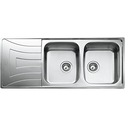 Teka UNIVERSO 2C 1E CN MTX Edelstahl Spüle Küchenspüle Spültisch Spülbecken Einbauspüle mit Zwei Becken und Abtropffläche