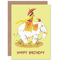 Elephant Skates Birthday Greetings Card 象