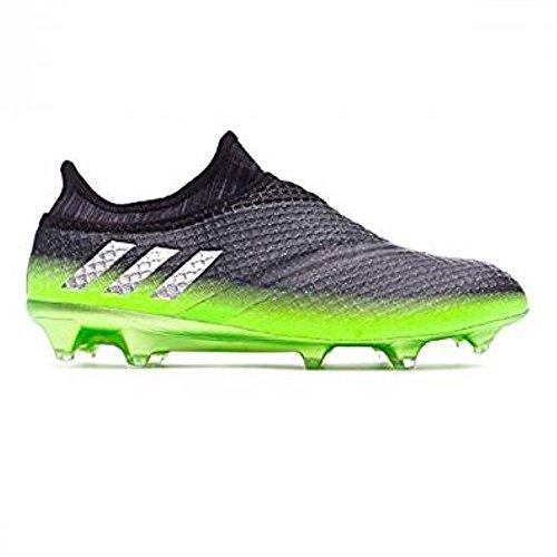 adidas Messi 16+ Pureagility FG Techfit Socke Space Dust grün grau Gr. 40