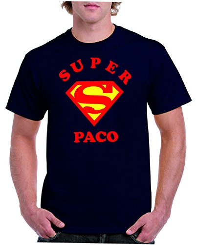 Camisetas divertidas Child Super Paco - para Hombre Camisetas Talla Medium Color Azul Marino