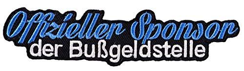 Aufnäher Aufbügler Blitzer Sponsor Bußgeldstelle für Auto Motorrad