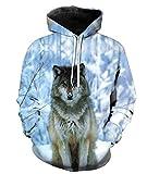 Takra Gold Unisex Wolf Style Snow Watchman Leisure Sweatshirt Pullover Hoodies