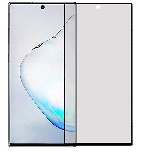 AJM 0.26MM Matte Finish Anti Fingerprint HD Electroplated Screen Protector for Samsung Galaxy Note 10 with Black Border
