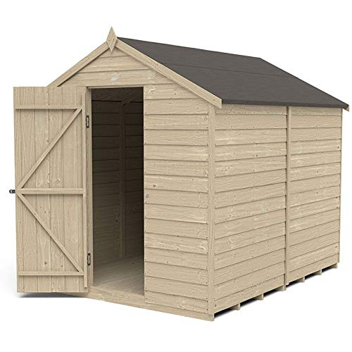 Forest Garden Overlap Pressure Treated 8x6 Apex Shed - No Window