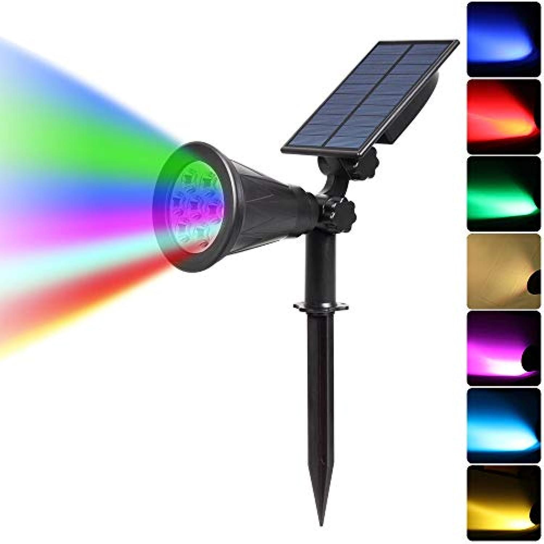 LED Light CELINEZL YWXLight Solarleuchten 2-in-1 wasserdicht 4 LED Solarscheinwerfer verstellbare Wandleuchte Landschaftslicht Sicherheitsbeleuchtung