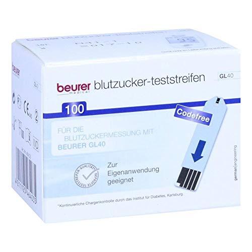BEURER GL40 Blutzuckerteststreifen 100 St