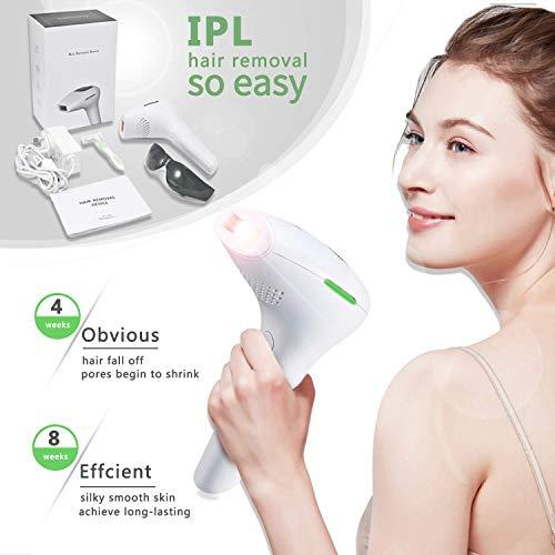 QWEAS Gesichtskörper Permanent Laser Haar, 500.000 Flashes Removal Frauen Männer IPL Haarentferner für Frauen-Bikini-Linie Beine Arme Armpits