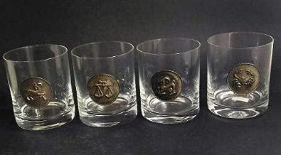 Cj Antigo 4 Copos Para Cristal Whisky Frances 1194r Rrdeco Cor:Branco (Translucido)