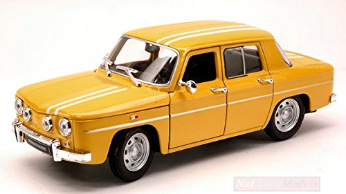 Welly WE0324 Renault R8 GORDINI 1964 Yellow/White 1:24 MODELLINO Die Cast Model