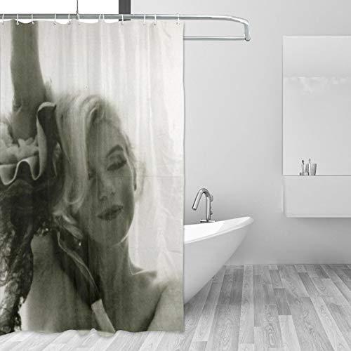 BLACKbiubiubiu Marilyn Monroe Duschvorhang, Bedruckt, wasserfest, 152 x 183 cm