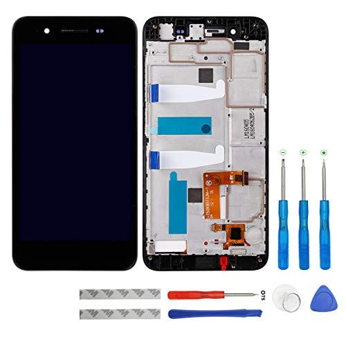 Swark - Pantalla LCD compatible con Huawei Enjoy 5S GR3 TAG-L21 TAG-L01 TAG-L03 TAG-L13 TAG-L22 TAG-L23 (incluye marco y herramientas), color negro