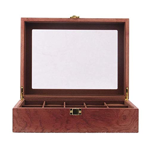 ADSE Abschließbare Uhrenbox Uhrenvitrine Aufbewahrungsorganisator Große Glasplatte