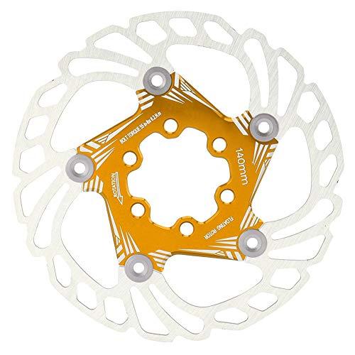 Taidda- Disco de Freno Flotante de Bicicleta Negro/Azul/Dorado/Rojo/Colorido, rotores de Freno flotantes de Bicicleta Seguros, Fuertes y duraderos, para(Golden)