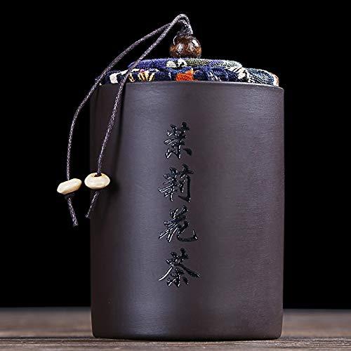 GBCJ Xiang Ye Trompete, lila Sandteekanne, keramische Teekanne, Pu'er Teebox, Tragbare Reisekassette versiegelt Tankhaushalt, Jasmin-Tee-Teedose