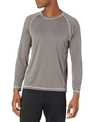 Amazon Essentials Long-Sleeve Quick-Dry UPF 50 Swim Tee Schwimmshirt, Charcoal, Small
