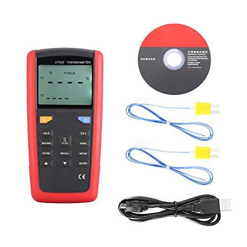 UT325 Termómetro de Contacto Digital Multifunción con Sonda de Temperatura K, Termopares K, J, T, E, R, S, N