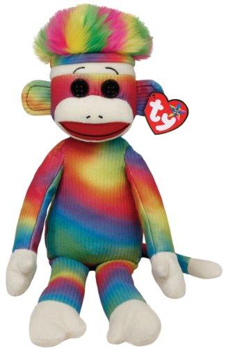 Ty Beanie Baby - Rainbow Sock Monkey