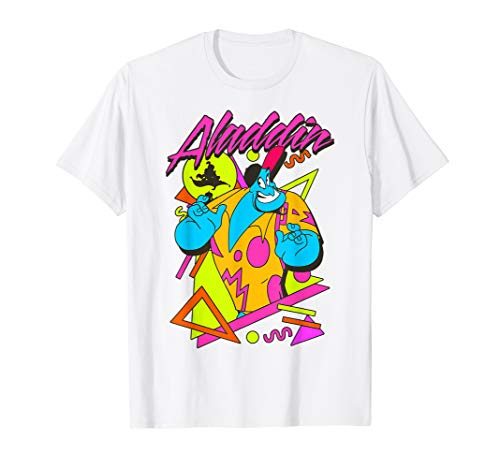 Disney Aladdin Genie Retro 90's Style Poster T-Shirt