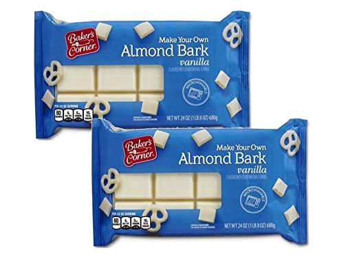 Baker's Corner Make Your Own Almond Bark, Microwaveable Vanilla Coating for Baking, Toppings, Sweets - 2 Pck (3 lbs)