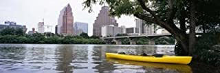 Posterazzi Yellow Kayak in a Reservoir Lady Bird Lake Colorado River Austin Travis County Texas USA Poster Print, (36 x 12)