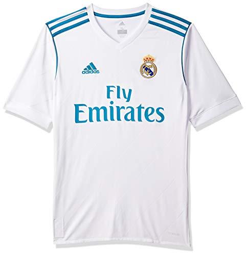adidas H JSY Y, Camiseta 1ª Equipación Real Madrid 2017-2018 para Niños, Blanco, 152