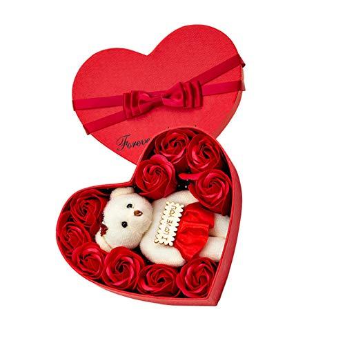 10 Sapone Rose Orso Love Gift Box a forma di cuore per San Valentino Festa della Mamma...
