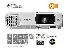 Epson EH-TW650 3LCD Projektor (Full HD, 3100 Lumen, 15,000:1 Kontrast)