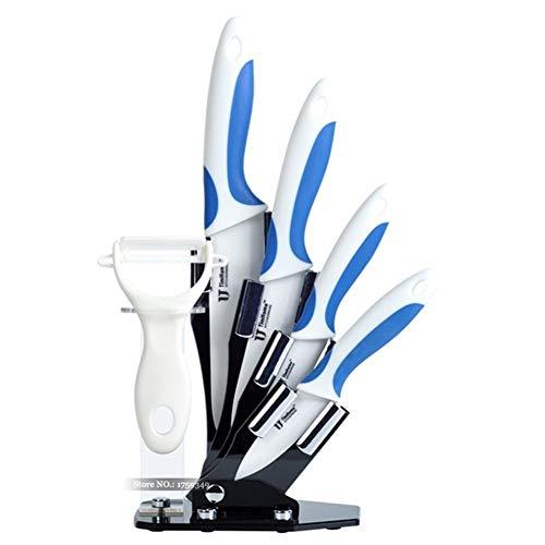 Cuchillo de cerámica de la cocina del cuchillo de zirconia cuchillo de pelado de la fruta de alta calidad cuchillos del cocinero de cocina de corte de la carne (Color : Blue)
