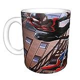 Taza divertida con diseño de Spiderman de Marvel - Taza de café de cerámica de 325 ml, divertida, sarcasmo, motivacional,...