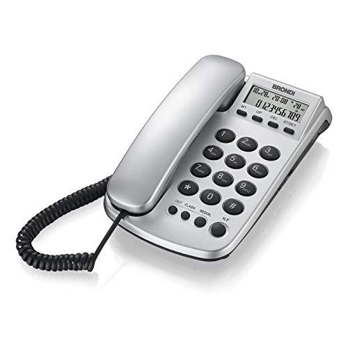 Brondi Office Silver Telefono Fisso, Argento