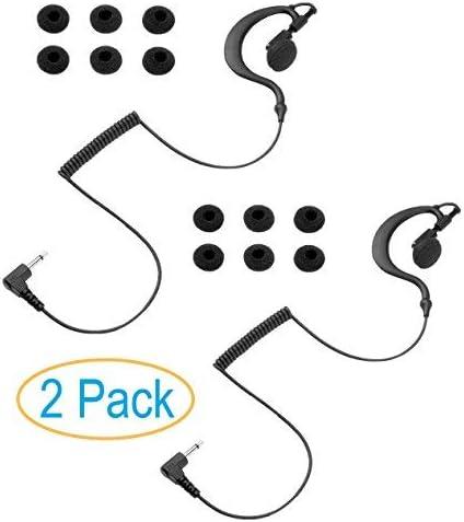2 Pack 3 5mm Listen Only Earpiece Earhook Skin Friendly Rubber Ear Hook Earbud Swivels for Right product image