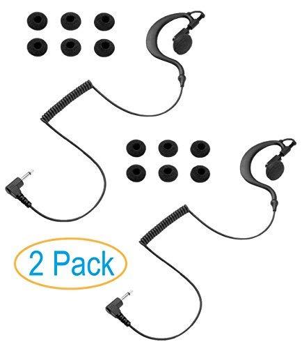 Best Buy! 2 Pack 3.5mm Listen Only Earpiece Earhook, Skin-Friendly Rubber Ear Hook, Earbud Swivels f...