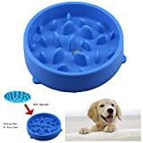 Txyk Lento Cuenco de Perro de Alimentación Comedero Antivoracidad para Perros de Comida para Mascotas - Slow Down Eating, Azul 20 CM