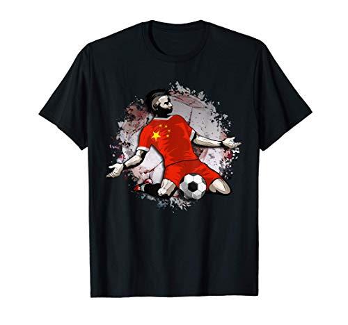 China Fútbol Bandera Nacional de China Amantes del Fútbol Camiseta