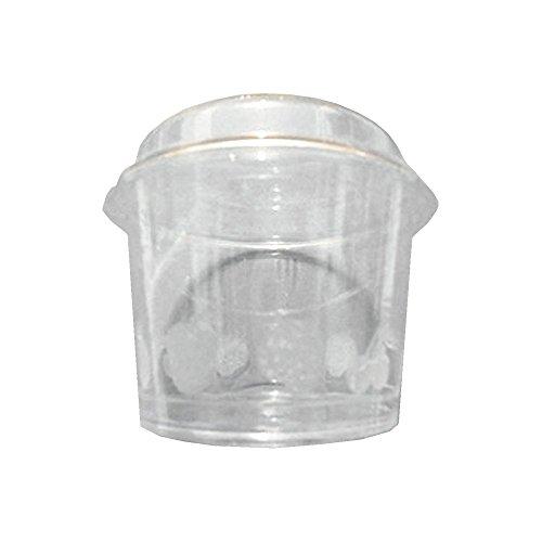 100Stück Trinkbecher Plastikbecher CC 150+ Deckel für Obstsalat Joghurt und bunte Eis transparent Plastic Cup for Ice Cream