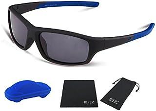DUCO Kids Sports Style Polarized Sunglasses Flexible...