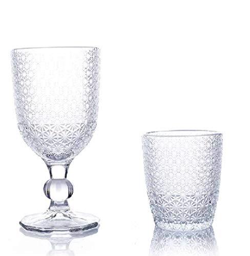 kedea Bicchieri Acqua Colorati in Vetro, Calici Vino Colorati in Vetro, Lavabili in lavastoviglie, Bicchieri e Calici in Pasta Colore Lavabili in Lavastoviglie, Trasparente