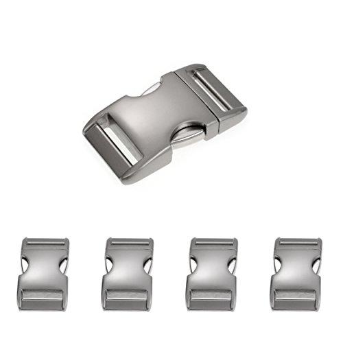 Metall-Klickverschluss Alumaxx, Set aus 4 Stück, 5/8