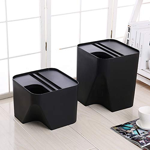 Taosheng Plastic storage bucket can be superimposed trash can home classification bucket