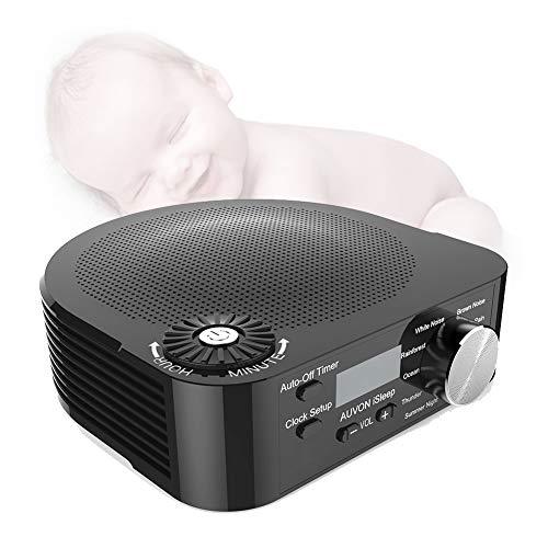 Music Sleep Aid Device, Zeitmessgerät für weiße Geräusche Sound Machine Music Player mit beruhigenden Geräuschen Timer-Schlafmonitore