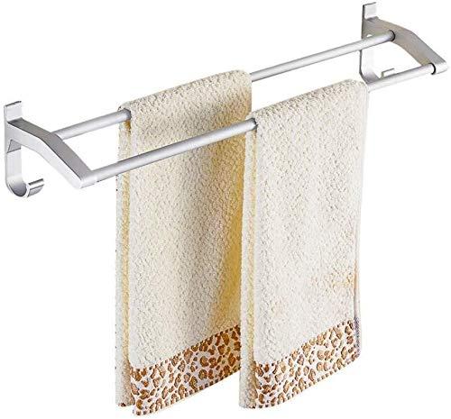 JXXDDQ Accesorios de baño perforados lámpara colgante de dos polos, soporte para inodoro con barra de baño (tamaño: 40 cm doble poste)