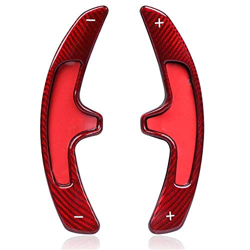 NIUASH Carbon Faser Lenkrad Paddel Shift Shifter Cover Trim, passend für Porsche Macan 718 911 997 996 Panamera Cayenne GTS 918