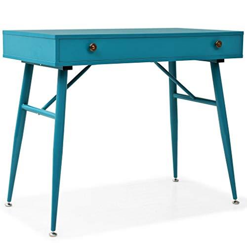 vidaXL Mesa Ordenador Escritorio Cajón Verde Mueble Estudio Despacho Consola