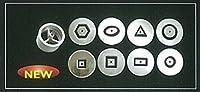 陶芸用品 陶芸道具 陶芸 粘土 クレイガン 中空のひも 中空紐 紐作り HEX-65用 ダイ8枚
